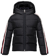 Moncler Odile Hooded Down Coat, Navy, Size 8-14