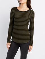 Charlotte Russe Striped Ringer Tunic Top