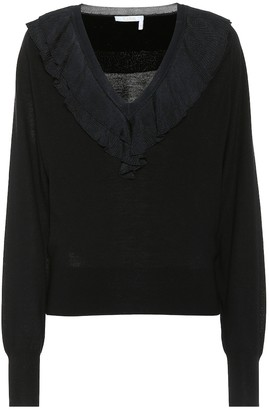 Chloé Ruffled wool sweater