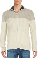 Nautica Colorblocked Cable Knit Sweater
