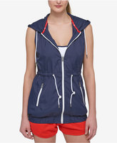 Tommy Hilfiger Banded-Hem Hooded Vest, A Macy's Exclusive Style