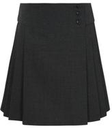 George Girls School Heart Button Pleat Skirt