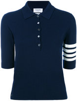 Thom Browne ribbed polo shirt - women - Cotton - 38