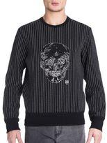 Alexander McQueen Needle Stitch Front Skull Sweatshirt