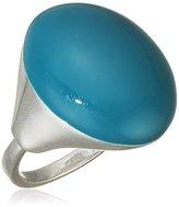 Pilgrim Jewelry Women's Ring Brass Ring Silver Enamel world 251336904 Green 2.0 CM