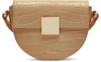 DeMellier Mini Oslo Croc-Embossed Leather Crossbody Bag