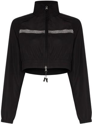 Adam Selman Sport Embellished Cropped Jacket