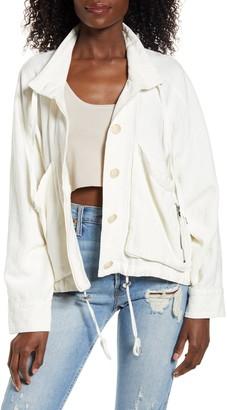 Blank NYC Linen Blend Utility Jacket