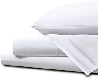 Homestead UK Super King Percale Sheet Set White