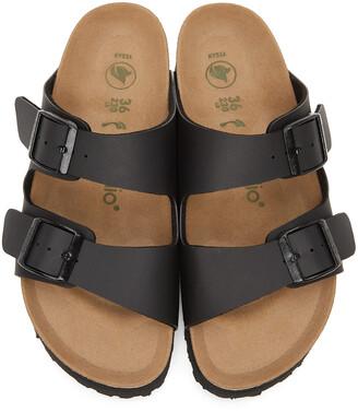 Birkenstock Black Papillio Birko-Flor Narrow Arizona Platform Sandals