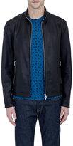 Theory Men's Leather Morvek L Jacket-BLACK