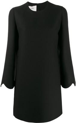 Valentino scalloped sleeves shift dress