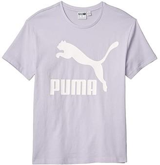 Puma Classics Logo Tee (Purple Heather) Women's T Shirt