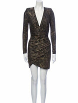 Thumbnail for your product : Alice + Olivia Animal Print Mini Dress w/ Tags Grey