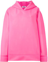MSGM semi-sheer hoodie