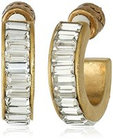 Kenneth Cole New York Faceted Bead Small Hoop Earrings