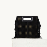 Maje Studded leather bag with fringing