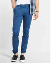Express skinny fit flex stretch blue chino pant
