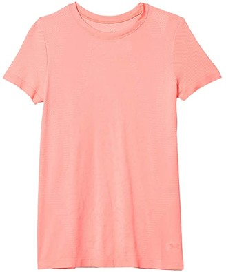 Under Armour Kids Seamless Short Sleeve T-Shirt (Big Kids) (Eclectic Pink/French Gray/Eclectic Pink) Girl's T Shirt