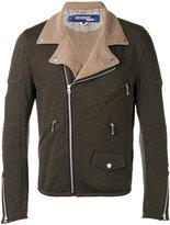 Junya Watanabe Comme Des Garçons Man - casual biker jacket - men - Cotton/Wool - S