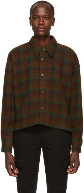 Isabel Marant Brown Hanao Wool Shirt