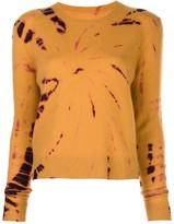 The Elder Statesman tie dye print jumper