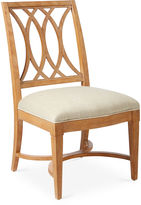 One Kings Lane Heritage Coast Side Chair, Pecan/Ivory