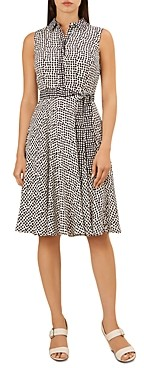 Hobbs London Belinda Sleeveless Dot Print Dress