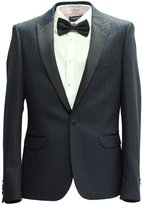 HARRY BROWN Men's Slim Fit Party Blazer With Jacquard Pattern