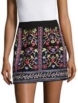 Vero Moda Floral Embroidered Mini Skirt