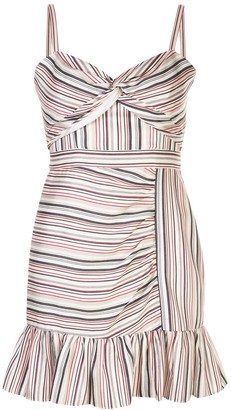 Parker Risa striped twist front dress