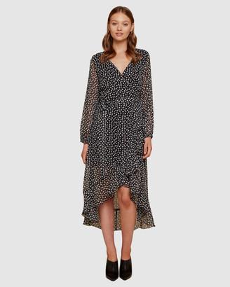 Ids Sabrina Wrap Maxi Dress