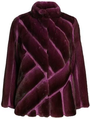 Zac Posen For The Fur Salon Herringbone Mink Fur Jacket