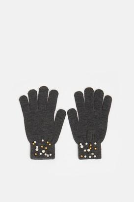Coast Pearl And Diamante Detail Gloves