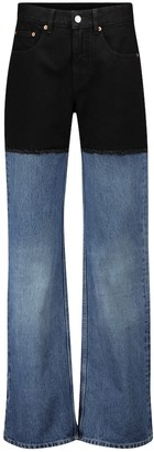 MM6 MAISON MARGIELA Colorblocked high-rise straight jeans