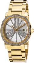 Wittnauer WN4007 Women's Adele Silver Dial Gold Tone Steel Crystal Accented Watch