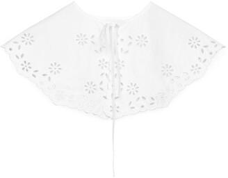 Arket Embroidered Poplin Collar