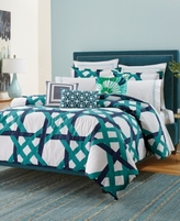 Trina Turk Pacifica Pier Lattice Queen Comforter Set