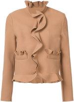 MSGM ruffle panel jacket - women - Polyester/Spandex/Elastane/Viscose - 38