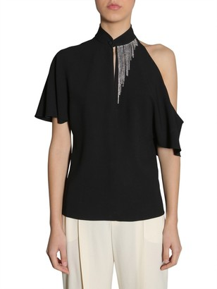 Lanvin Embellished Collar Detail Top