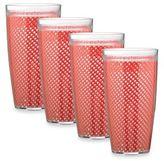 Kraftware KraftwareTM Fishnet 4-Piece Doublewalled Plastic Highball Glasses in Flag Red