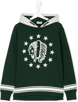 Moncler american-indian print sweatshirt - kids - Cotton - 14 yrs