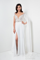 Terani Prom - Elegant Jewelled Illusion Neck Polyester A-Line Gown 1711P2382