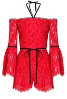 Alexis Layla Romper Red Lace