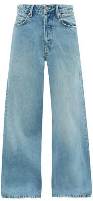 Raey Stride Wide Leg Jeans - Womens - Light Blue