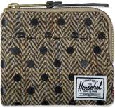 Herschel Black Polka Dot Johnny Harris Tweed Wallet