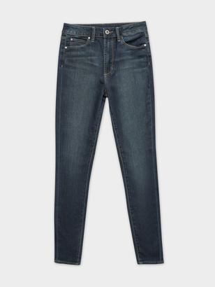 Articles of Society High Sarah Skinny Jeans in Kingston Blue Indigo Denim