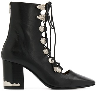 Toga Pulla Lace-Up Ankle Boots