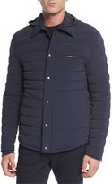 Vince Quilted Shirt-Style Ski Parka, Coastal