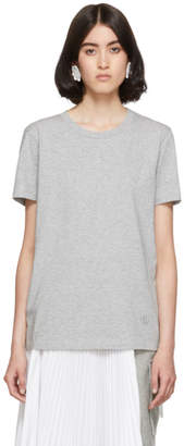 MM6 MAISON MARGIELA Grey Embroidered Logo T-Shirt